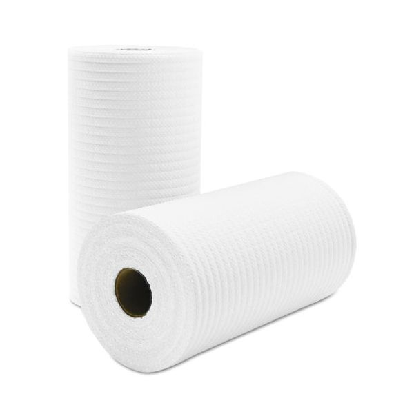 Cascades Tuff-Job Scrim Reinforced Wipers, 9 3/4 x 275 ft, White, 6 Rolls/Carton