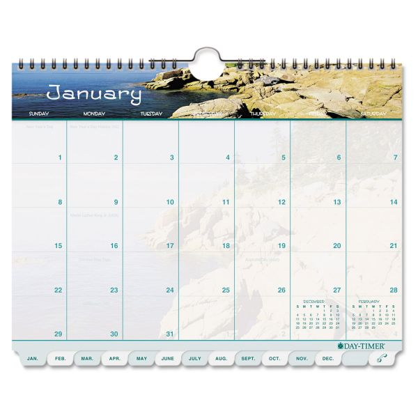 Day-Timer Coastlines Monthly Wall Calendar
