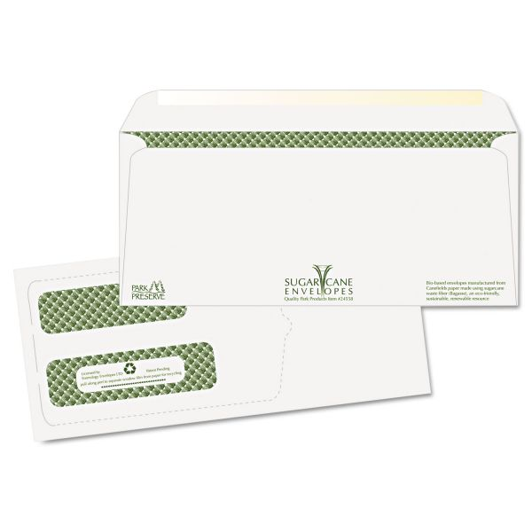 Quality Park Double Window Sugarcane Paper Envelopes