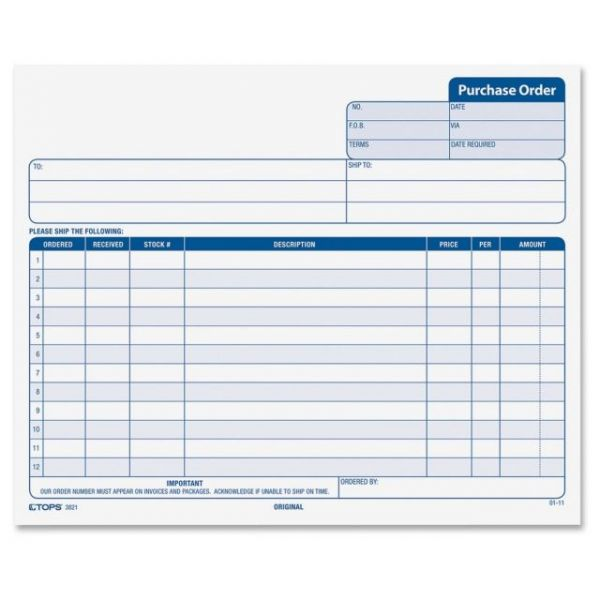 TOPS Purchase Order Form