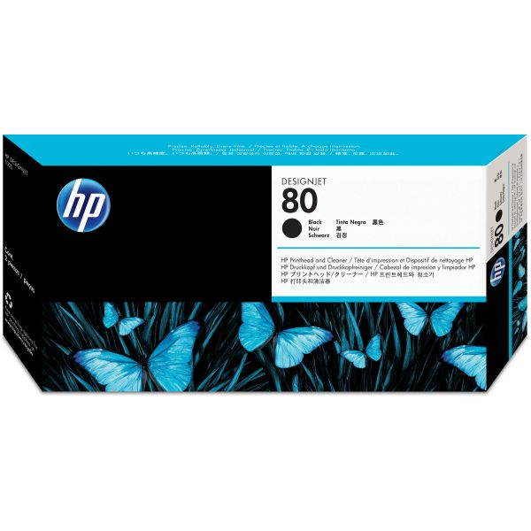 HP 80 Black Printhead & Cleaner (C4820A)