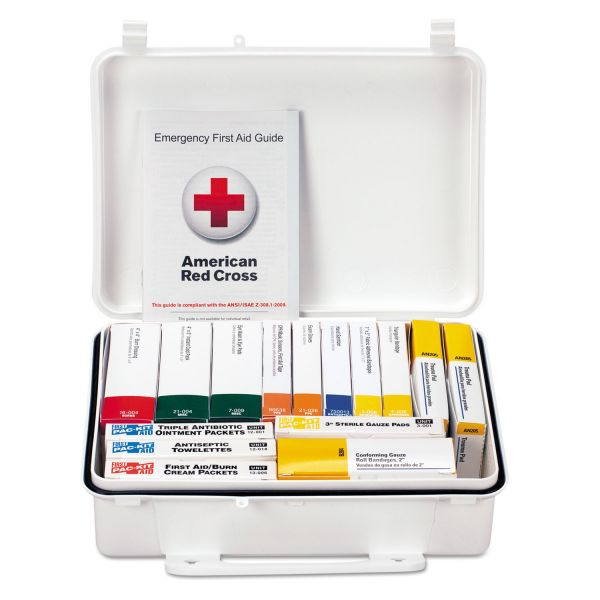First Aid Only ANSI Class A Weatherproof First Aid Kit for 25 People, 84 Pieces
