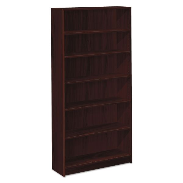 HON 1870 Series Bookcase, Six Shelf, 36w x 11 1/2d x 72 5/8h, Mahogany