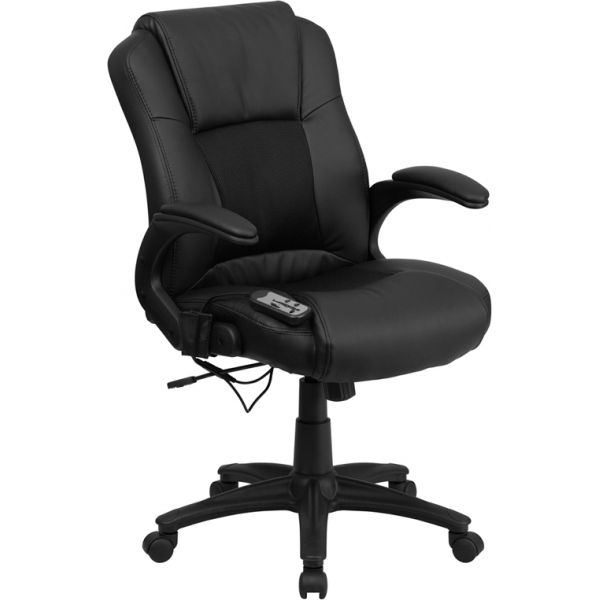 Flash Furniture Massaging Leather Executive Office Chair