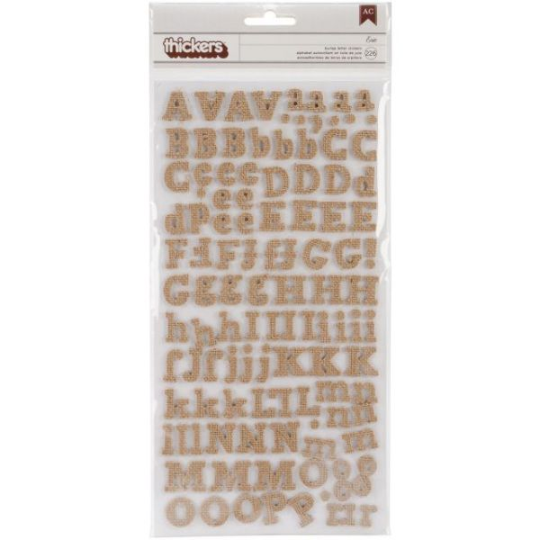 "DIY Thickers Alphabet Stickers 6""X11"" Sheets 2/Pkg"