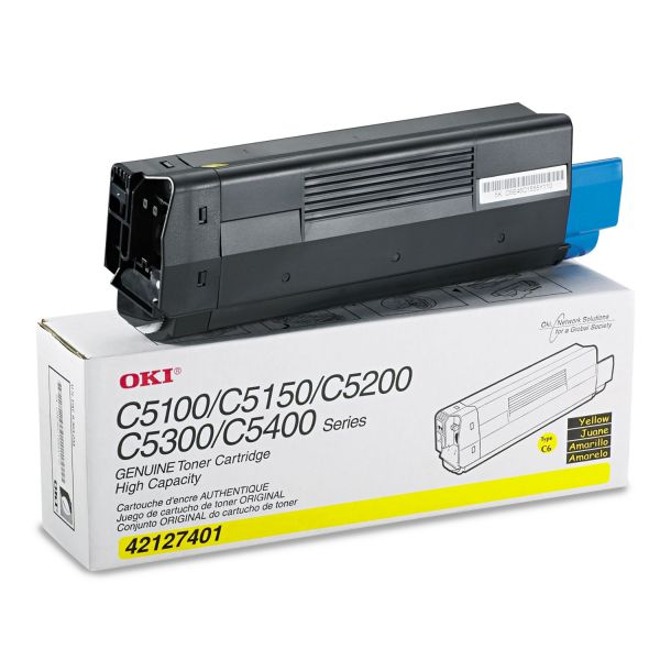 Oki 42127401 Yellow Toner Cartridge