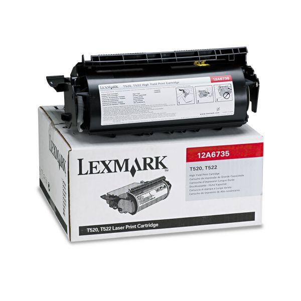 Lexmark 12A6735 Black High Yield Toner Cartridge