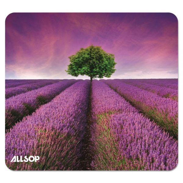 Allsop Naturesmart Mouse Pad, Lavender Field Design, 8 1/2 x 8 x 1/10