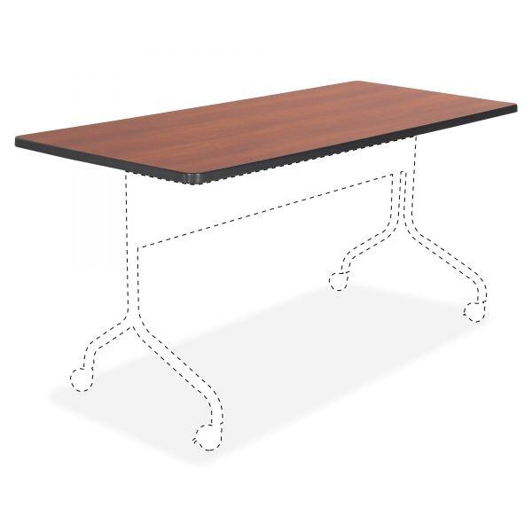 Safco Impromptu Series Mobile Training Table Top, Rectangular, 60w x 24d, Cherry