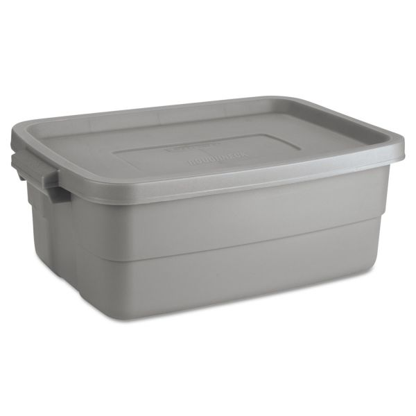 Rubbermaid Roughneck Storage Box With Snap-On Lid