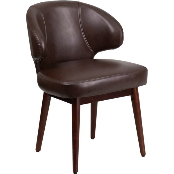 Flash Furniture Comfort Back Series Leather Reception-Lounge-Office Chair