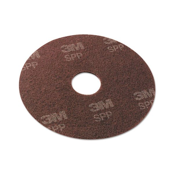 "Scotch-Brite Surface Preparation Pad, 19"" Diameter, Maroon, 10/Carton"