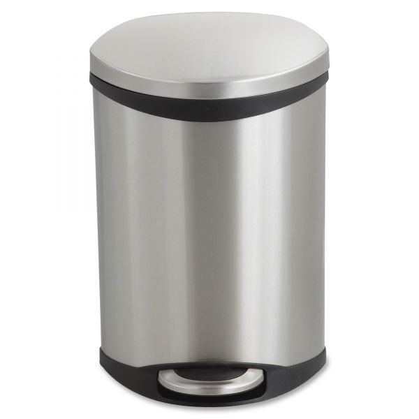 Safco Step-On 3 Gallon Trash Can With Lid