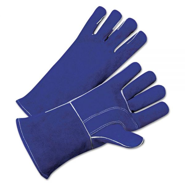 Anchor Brand Leather Welder's Gloves, Gauntlet Cuff, Large