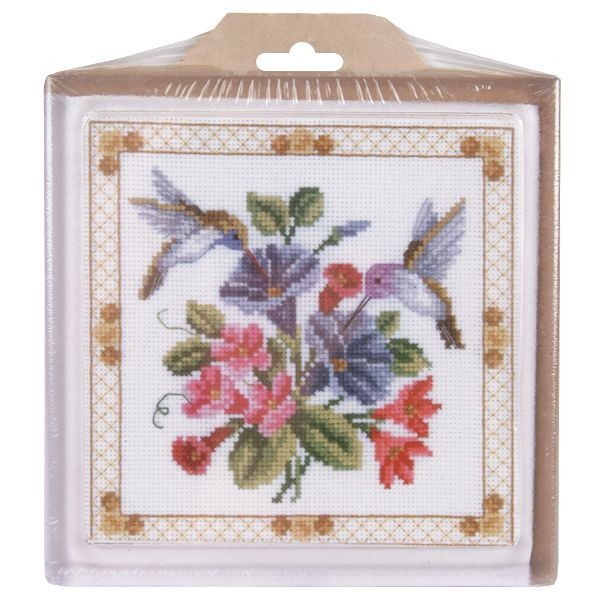 "Hummingbird Hot Plate 14 Count 6""X6"""