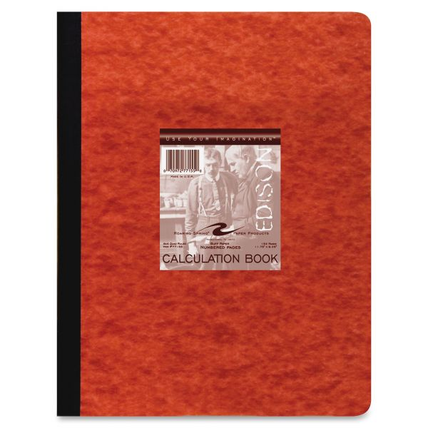 Roaring Spring Section Sewn Lab Notebook, Quadrille, Red Cover, 11 3/4 x 9 1/4, 76 Shts/Pad