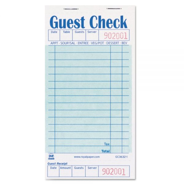 Royal Guest Check Book