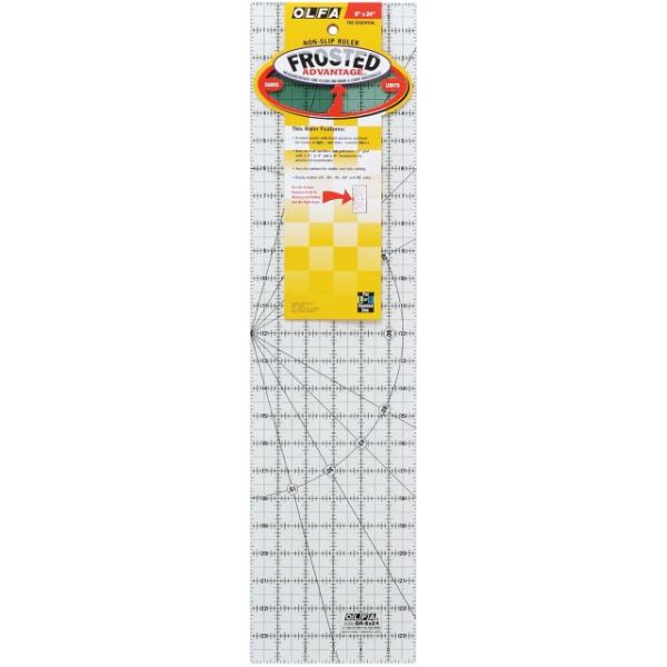"OLFA Frosted Advantage Non-Slip Ruler ""The Essential"""