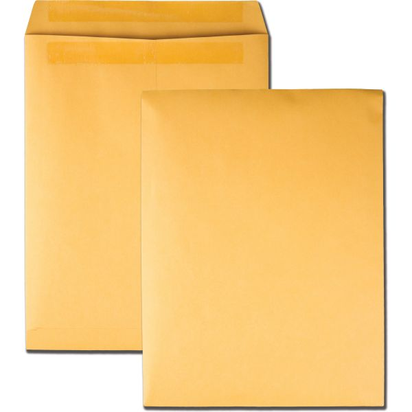 Quality Park Redi Seal Catalog Envelope, 10 x 13, Brown Kraft, 250/Box