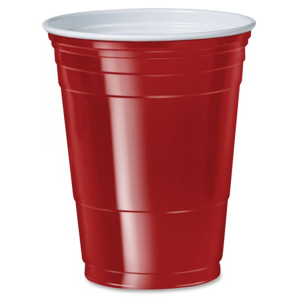 Red SOLO 16 oz Plastic Cups