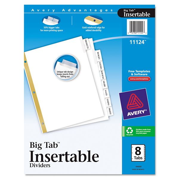 Avery WorkSaver Big Tab Insertable Tab Index Dividers