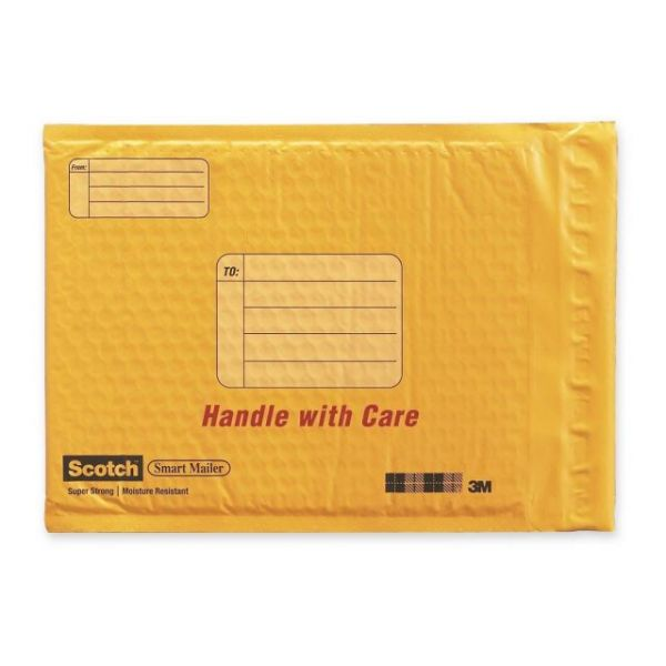 Scotch Smart Plastic Coated Bubble Mailer