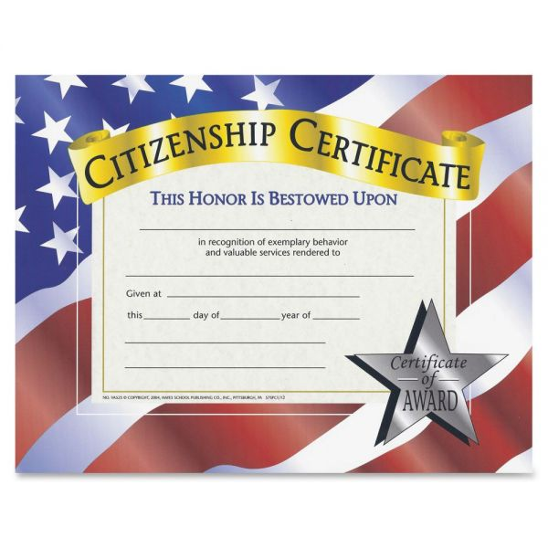 Flipside Citizenship Certificates