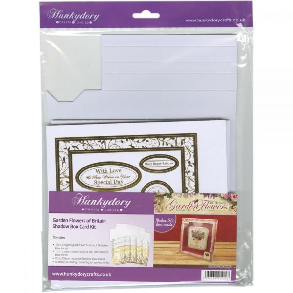 HunkydoryGarden Flowers Of Britain Shadow Box Card Kit