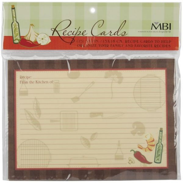 Family Recipes Additional Cards 25/Pkg