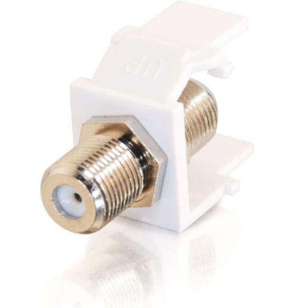 C2G Snap-In F-Type F/F Keystone Insert Module - White