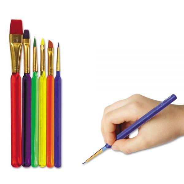 Creativity Street Triangular-Handle Paint Brush Set