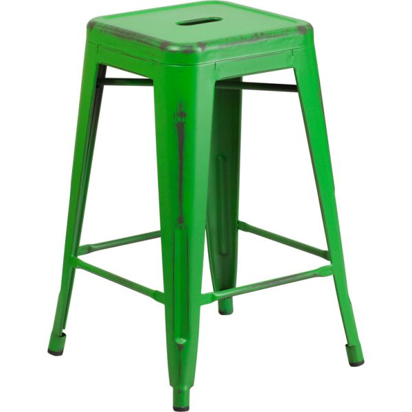 Flash Furniture 24'' High Backless Indoor-Outdoor Counter Height Stool