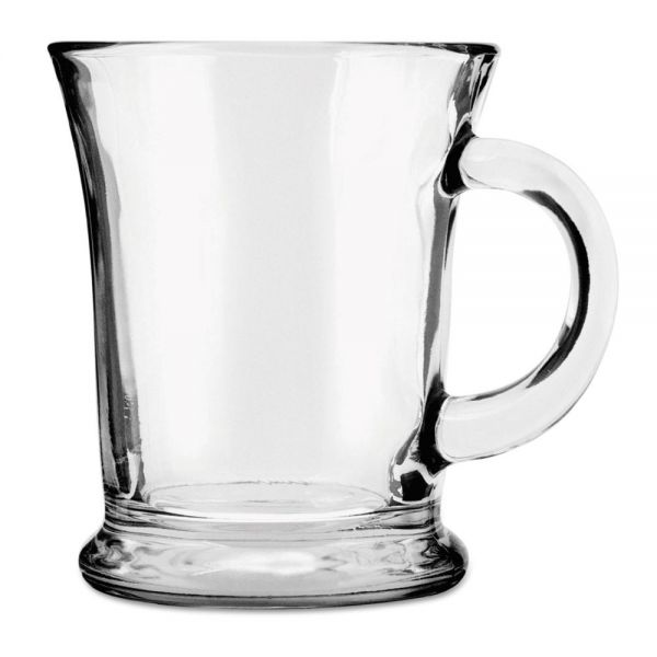 Anchor 14 oz Glass Mocha Mugs