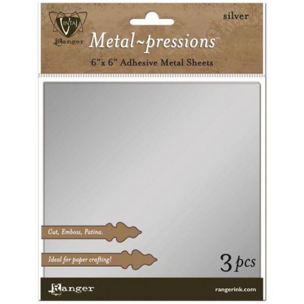 Ranger Vintaj Silver Foil Sheets 3/Pkg