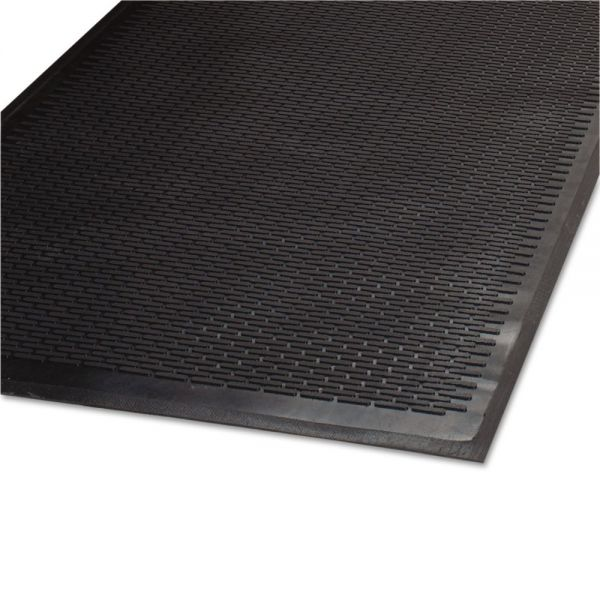 Guardian Clean Step Outdoor Rubber Scraper Mat, Polypropylene, 36 x 60, Black