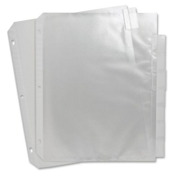 Sparco Top Loading Sheet Protectors with Index Tabs