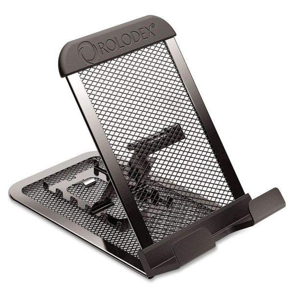 Rolodex Adjustable Mobile Device Mesh Stand, Black