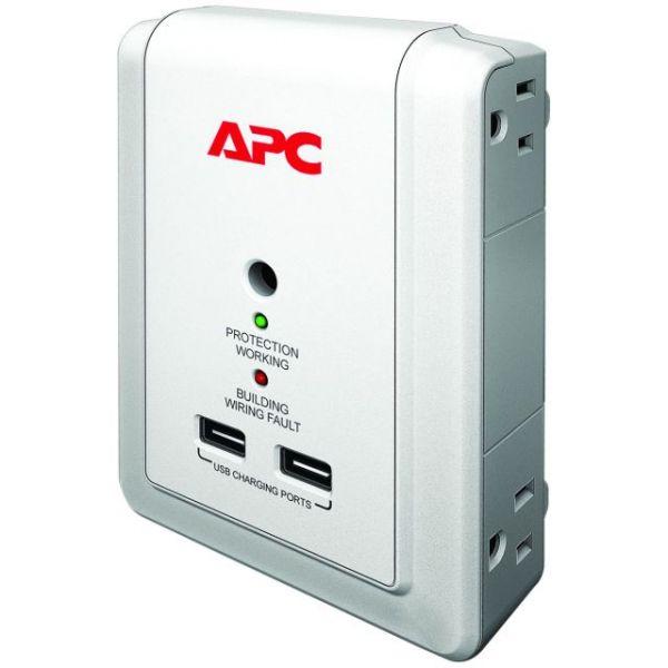 APC by Schneider Electric SurgeArrest Essential P4WUSB 4-Outlets Surge Suppressor