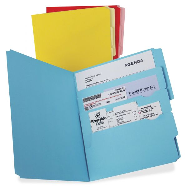 Pendaflex Divide it Up File Folder, Multi Section, 1/2 Cut Tab, Letter, Assorted, 12/Pack