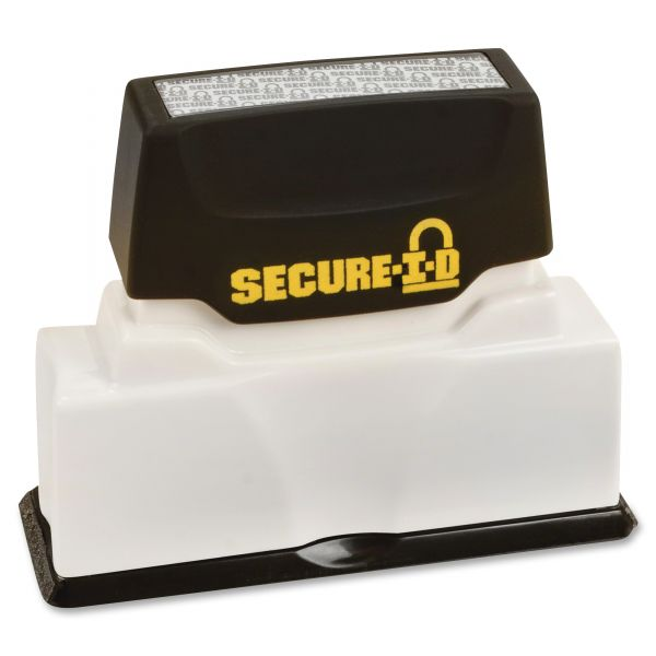 COSCO Secure-I-D Security Stamp, Obscures Area 2 1/2 x 5/16, Black