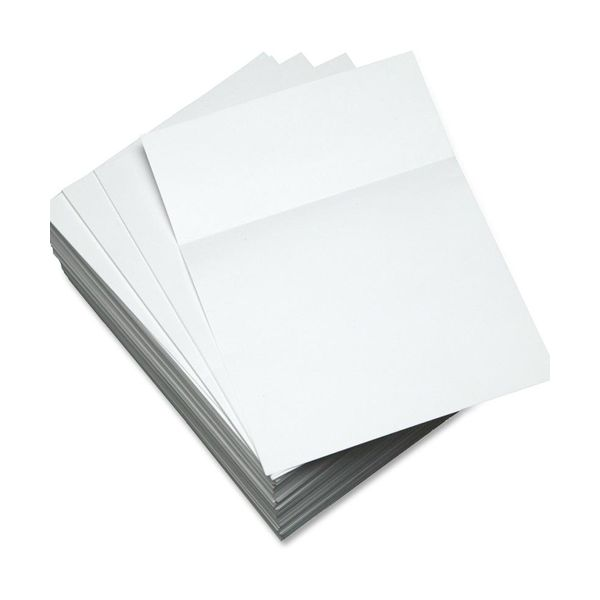 "Domtar Custom Cut-Sheet Copy Paper, 92 Brightness, 20 lb, 8 1/2 x 11, White, Perforated 3 1/2"", 500 Sheets/Ream"