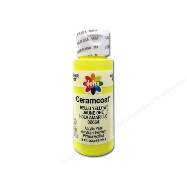 Ceramcoat Hello Yellow Acrylic Paint