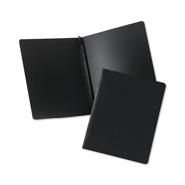 "Oxford DuraLock Report Cover, Prong Clip, Letter, 3"" Capacity, Black, 25 per Box"