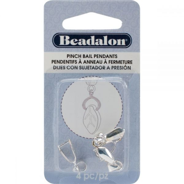 Beadalon Pendant Pinch Bail 22mm 4/Pkg