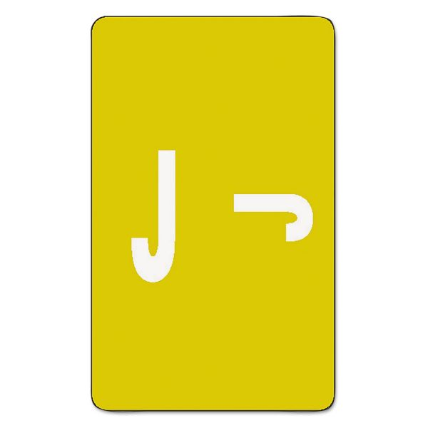 Smead Alpha-Z Color-Coded Second Letter Labels, Letter J, Yellow, 100/Pack