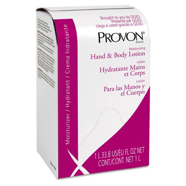 GOJO Moisturizing Hand & Body Lotion, 1000 ml, Bag-in-Box Refill, Floral