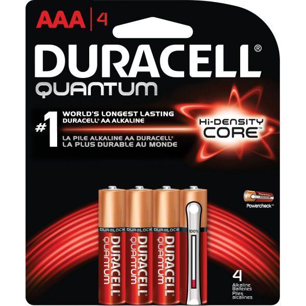 Duracell Quantum Alkaline Batteries, AAA, 4/PK