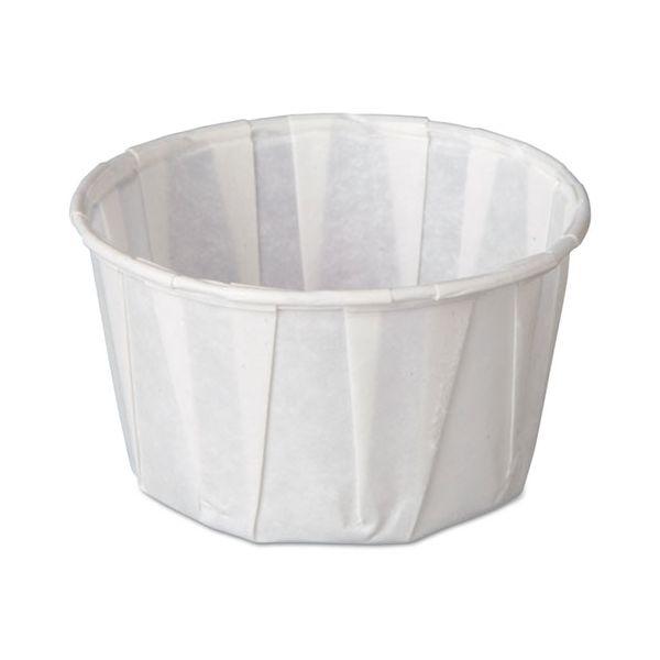 Genpak Squat 3.25 oz Pleated Portion Cups