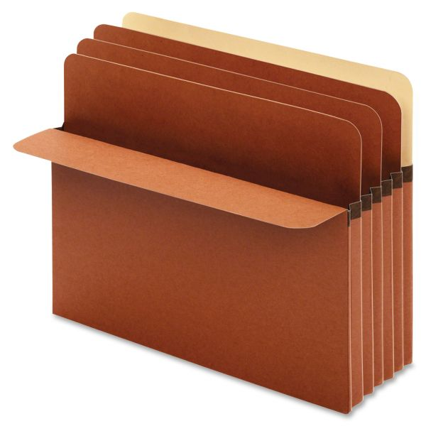 Pendaflex Divider Pockets, 2 Dividers, Redrope, 4 Pockets, Straight Cut, Letter, Brown