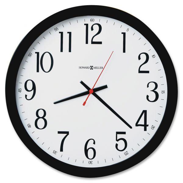Howard Miller Gallery Black Wall Clock